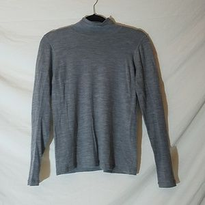 Elie Tahari Heathered Gray Cashmere Sweater, Med